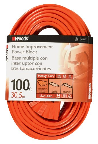 Coleman Cable Systems Woods 0827 14/3 Outdoor Multi-Outle...
