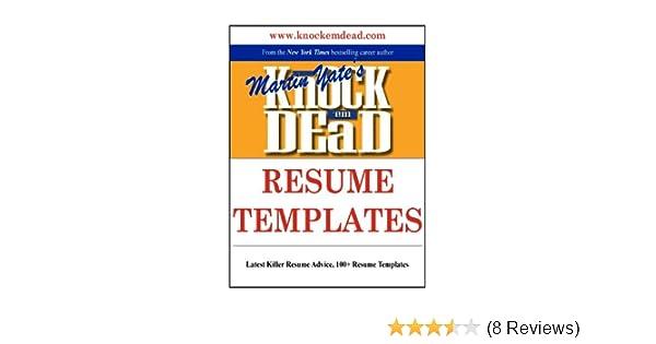 Amazon Knock Em Dead Resume Templates Plus 110