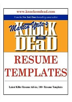 Amazoncom Knock 039em Dead Resume Templates Plus 110 Resume