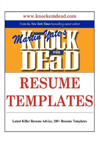 amazon com knock em dead resume templates plus 110 resume