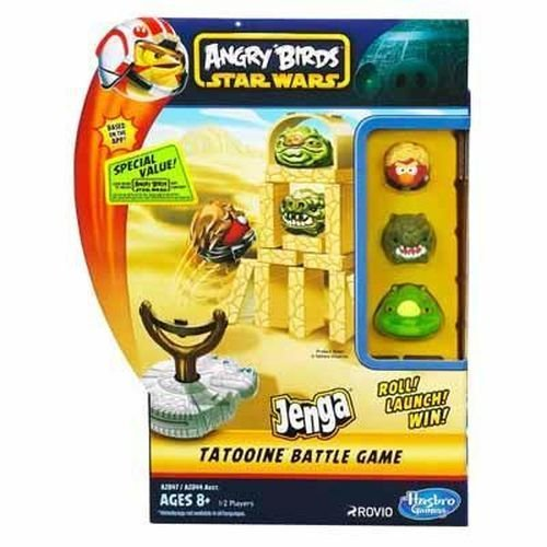 Angry Birds Star Wars Fighter Pods Jenga Tatooine Battle Game (Star Wars Angry Birds Game)