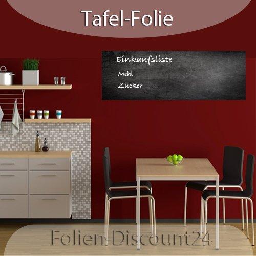 120cm x 100cm inkl EUR 6,96 // Quadratmeter 3 x Kreide   F-D24 Tafelfolie Set selbstklebend schwarz