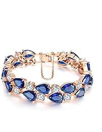 18K Rose Glod Plated AAA Cubic Zirconia Bracelet...