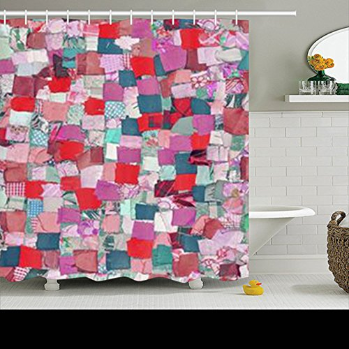 Shower Curtains Design Handmade Patchwork Quilt Abstract Col