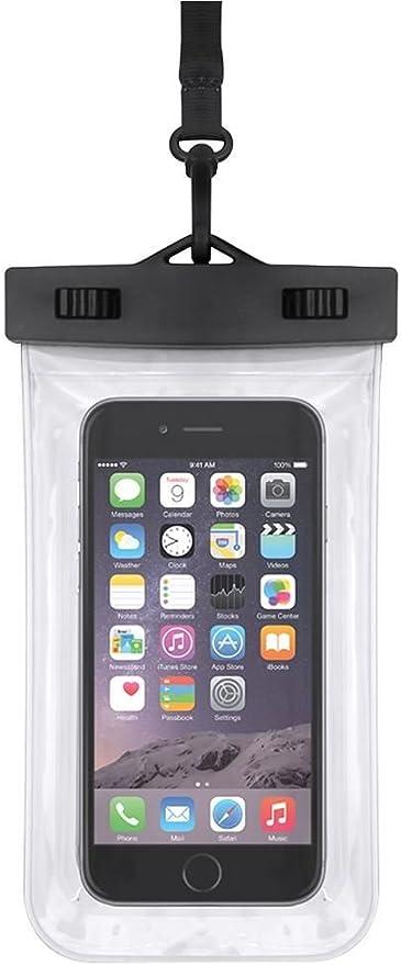 eLisa8 – Smartphone resistente al agua bolsa/funda ideal para iphone y Samsung Galaxy, smartphones de hasta 6 pulgadas. Color – Negro: Amazon.es: Hogar