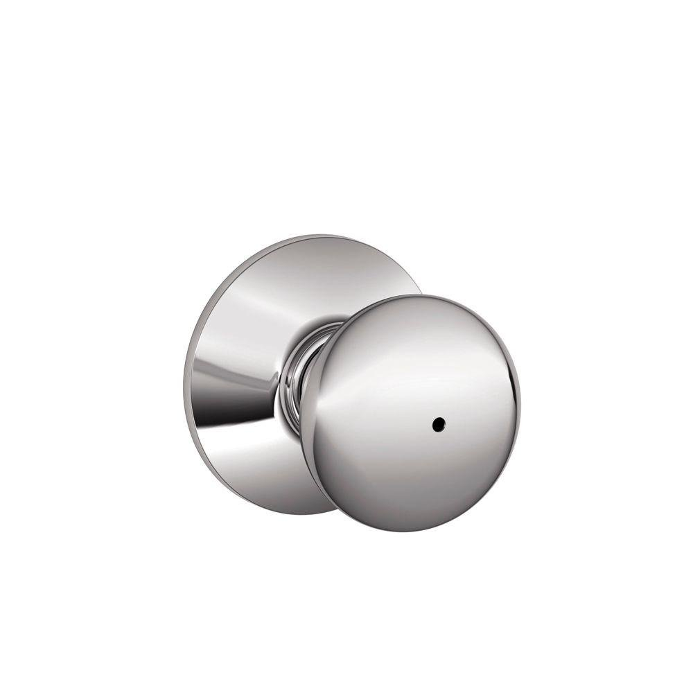 Schlage F40PLY625 Plymouth Privacy Knob, Bright Chrome - Doorknobs ...