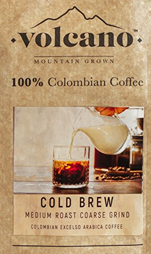 Cold Brew Colombian Mountain Coffee Coarse Ground Full City Dark Roast Colombia