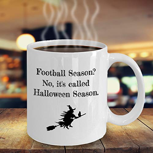 Halloween Season not Football Season Halloween mug spooky witches pumpkins fall autumn gift coffee -
