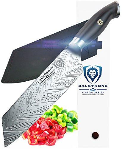 DALSTRONG Santoku Knife - Omega Series - 7' - BD1N Steel - w/Sheath
