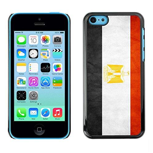 Omega Case PC Polycarbonate Cas Coque Drapeau - Apple iPhone 5C ( Egypt Grunge Flag )