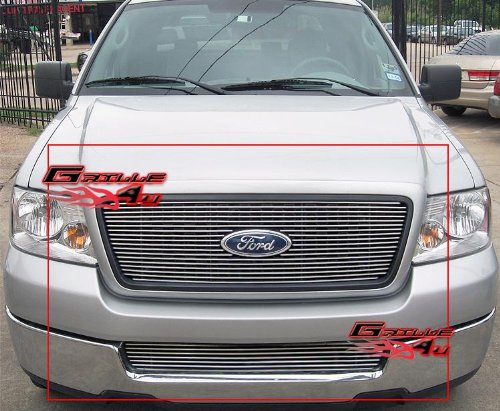 APS Fits 2004-2005 Ford F-150 Honeycomb Billet Grille Combo (Honeycomb Main Grille)