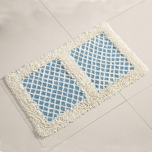 Cotton bathroom water-absorbing mats household mats non-slip door mat bathroom mat -5080cm q by ZYZX