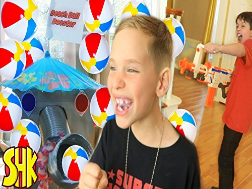 Beach Ball Booster Sneak Attack! Nerf Blaster Battle