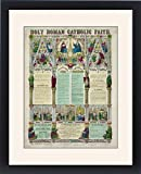 Framed Print of Holy Roman Catholic faith