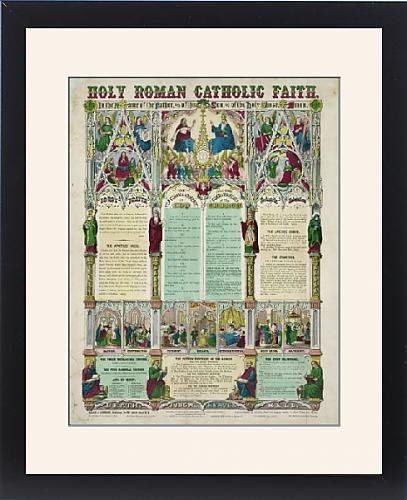 Framed Print of Holy Roman Catholic faith by Prints Prints Prints