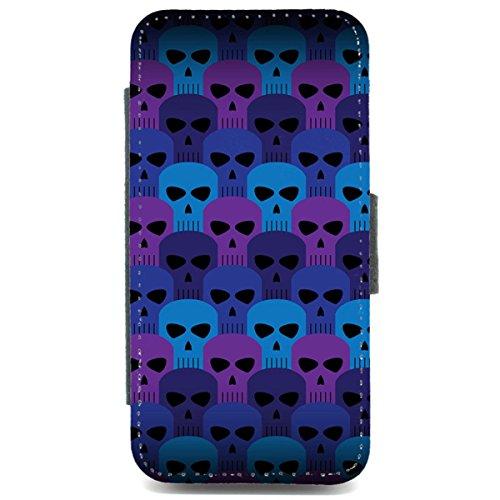 iPhone 6Geldbörse Handyhülle Totenkopf Muster Emo Punk Ska Tatoo Art