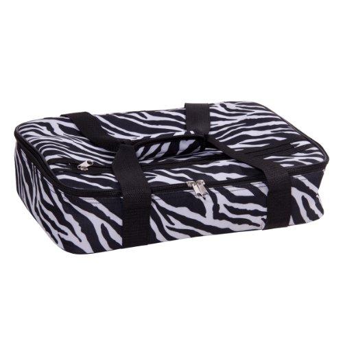 "UPC 786460699106, Casserole 16"" Rectangular Blac/white Zebra Design"