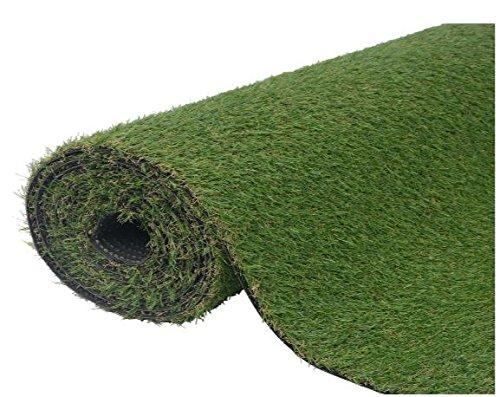 K&A Company Artificial Grass Plant Decor Garden Home Green 3.3'x26.2'/0.8''-1''