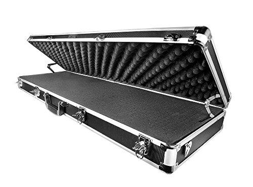 Aluminum Rifle Case (Common Sense Cases Trooper Aluminum Shotgun and Rifle Case, Black/Silver, 39.75 x 12.25 x 5-Inch,)