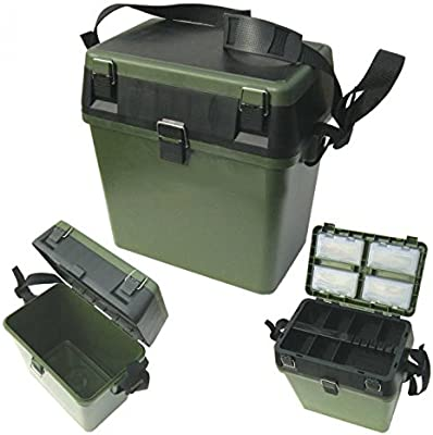 MDI - Caja asiento para pesca (con correa para el hombro), color ...