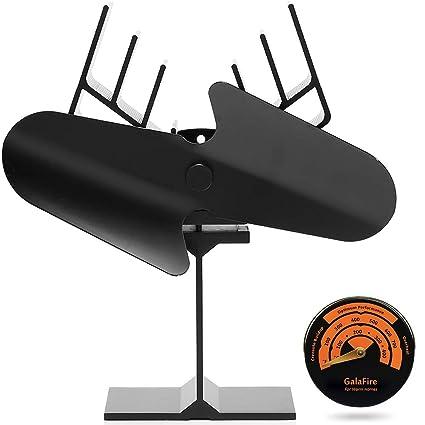 GALAFIRE [ 2 Years Warranty ] Large Airflow Wood Stove Fan Heat Powered Fireplace Fan Blower
