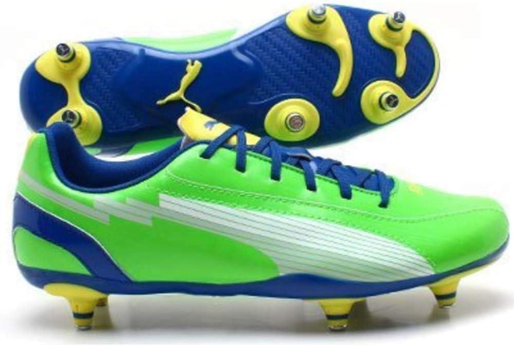 SG Junior Football Boots, Green/Blue