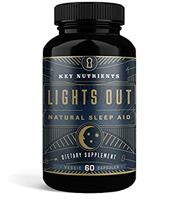 KEY NUTRIENTS Natural Sleep Aid, LIGHTS OUT Contains Melatonin, Valerian, Passion Flower, & More. 60 Veggie Caps.