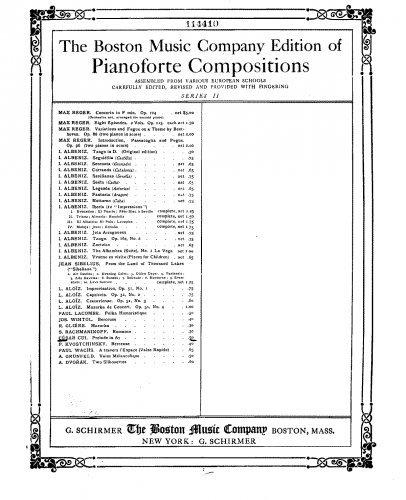 25 Preludes - Piano Score Larghetto e sontenuto (No.17) - Score pdf epub