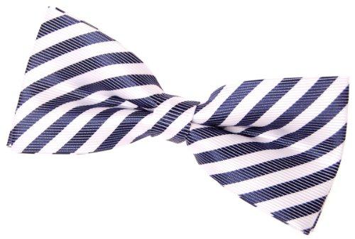(Retreez Striped Woven Pre-tied Bow Tie (4.5