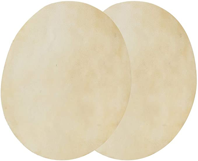 Buffalo Drum Head 2 PCS Faux Buffalo Drum Head Leather Consistent Clear Sound Upgrade Spare Accessory for African Bongo Drums