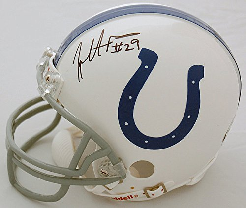 Joseph Addai Indianapolis Colts Autographed Mini Helmet - Certified Authentic - Licensed NFL Memorabilia - Indianapolis Colts Collectibles