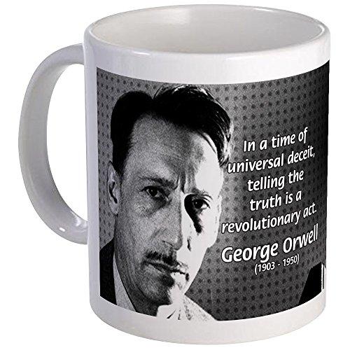 CafePress - Novelist George Orwell Mug - Unique Coffee Mug, 11oz Coffee (George Mug)