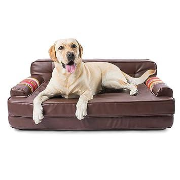 JIAJU Pet Sofa Lounge Cómodo Puppy Cat Dog Sleeping Home Snuggle Couch Pet Bed con Funda