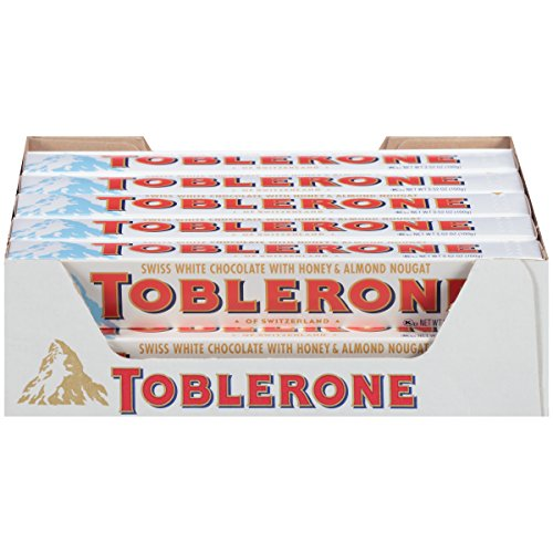 Toblerone Swiss White Chocolate with Honey and Almond Nougat, 3.52 Ounce Bars (Pack of 20) (Best Nougat In The World)