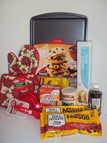 Homemade Chocolate Chip / Sugar Cookie Baking Bundle Gift Set Cookie Sheet, Measuring Spoons/Cups, Pot Holder, Brown Sugar, Wax Paper Vanilla