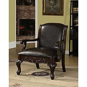 Amazon Furniture Living Room Furniture Of America Antique Dark Cherry