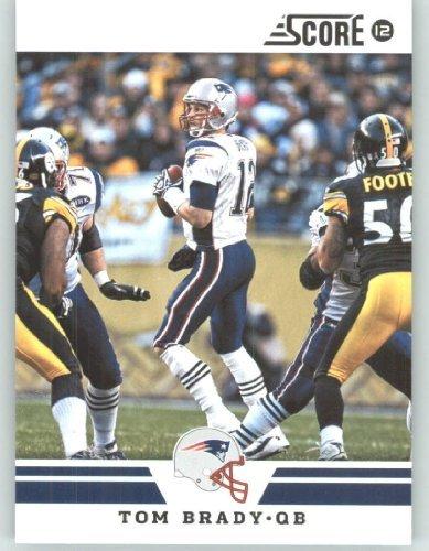 2012 Score Football Card #158 Tom Brady - New England Patriots (NFL Trading Card)