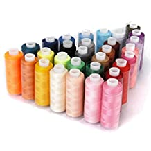Ocean Star® Sewing Thread 30 Colors Spools Home Sewing Craft All Ideal For Quilting Stitching Hand Sewing Machine Sewing, Assorted Colors Sewing Thread Purpose High Quality Kit (Multicolored)