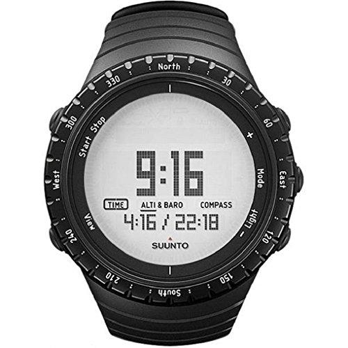 Suunto Core Regular Black Digital Display Quartz Watch, Black Elastomer Band, Round 49.1mm Case - Regular Unisex Watch