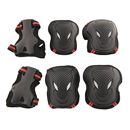- Physport Red Safety Protective Gear Keen,Elbow,Wrist 6 pcs Set Protective Pads Red and Black S Size