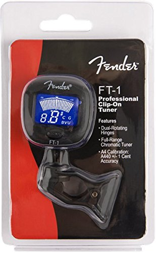 Fender 0239978000 FT-1 Pro Clip on Tuner for Acoustic Guitar, Electric Guitar, Bass, Mandolin, Violin, Ukulele, Viola, Cello, Mandola, and Banjo by Fender (Image #4)