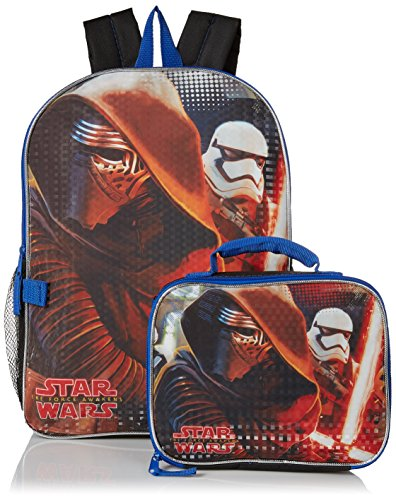 [Disney Boys' Kylo Ren and Stormtrooper Backpack with Lunch Kit, Black] (Stormtrooper Disney)