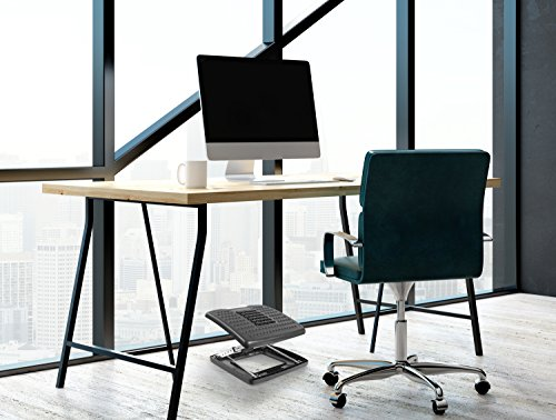 Mount-It! Adjustable Footrest with Massaging Beads Adjustable Height and Angle Office Foot Rest Stool for Under Desk Support, 3-Level Height Adjustment, Black by Mount-It! (Image #3)