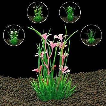 VIDOO Artificial Plástico Acuario Plantas Hierba para Acuario Fondo Pecera Adorno Decoraciones: Amazon.es: Hogar