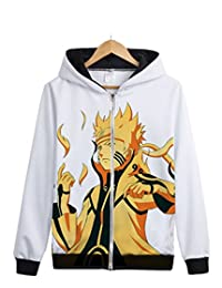 Splendid-Dream Anime Naruto Kakashi Zipper Up Hoody Sweatshirt Jacket