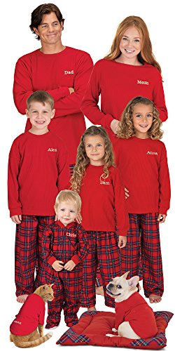 PajamaGram Flannel Stewart Matching Christmas