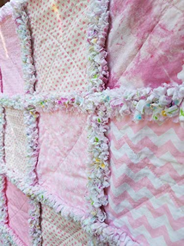 Baby Child Toddler Crib Rag Quilt Ready to Ship