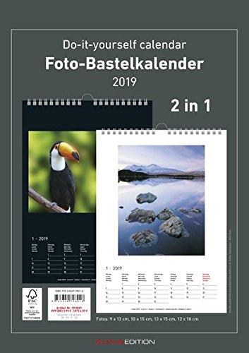 Foto-Bastelkalender A4 s/w - datiert 2019