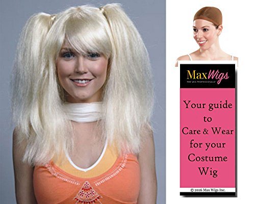 Chrissy Somers Color Blonde - Enigma Wigs Women's Suzanne Chrissi 3's Company 70s Summers Bundle with Wig Cap, MaxWigs Costume Wig Care Guide -