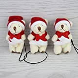 Christmas Bear 100 Pcs Mini Joint Teddy Cartoon Bouquet Bear,keychain Toys Toy For Children Kids Girls Valentine Gifts